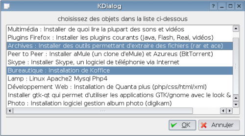 Capture d'écran de Easy Kubuntu