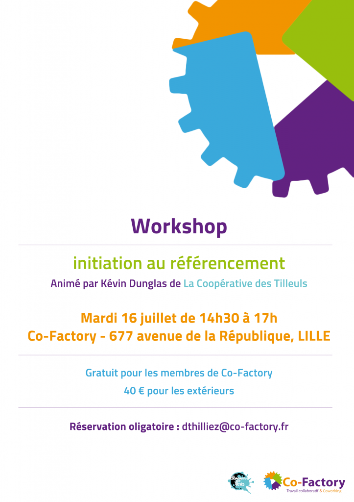 Workshop référencement Co-Factory
